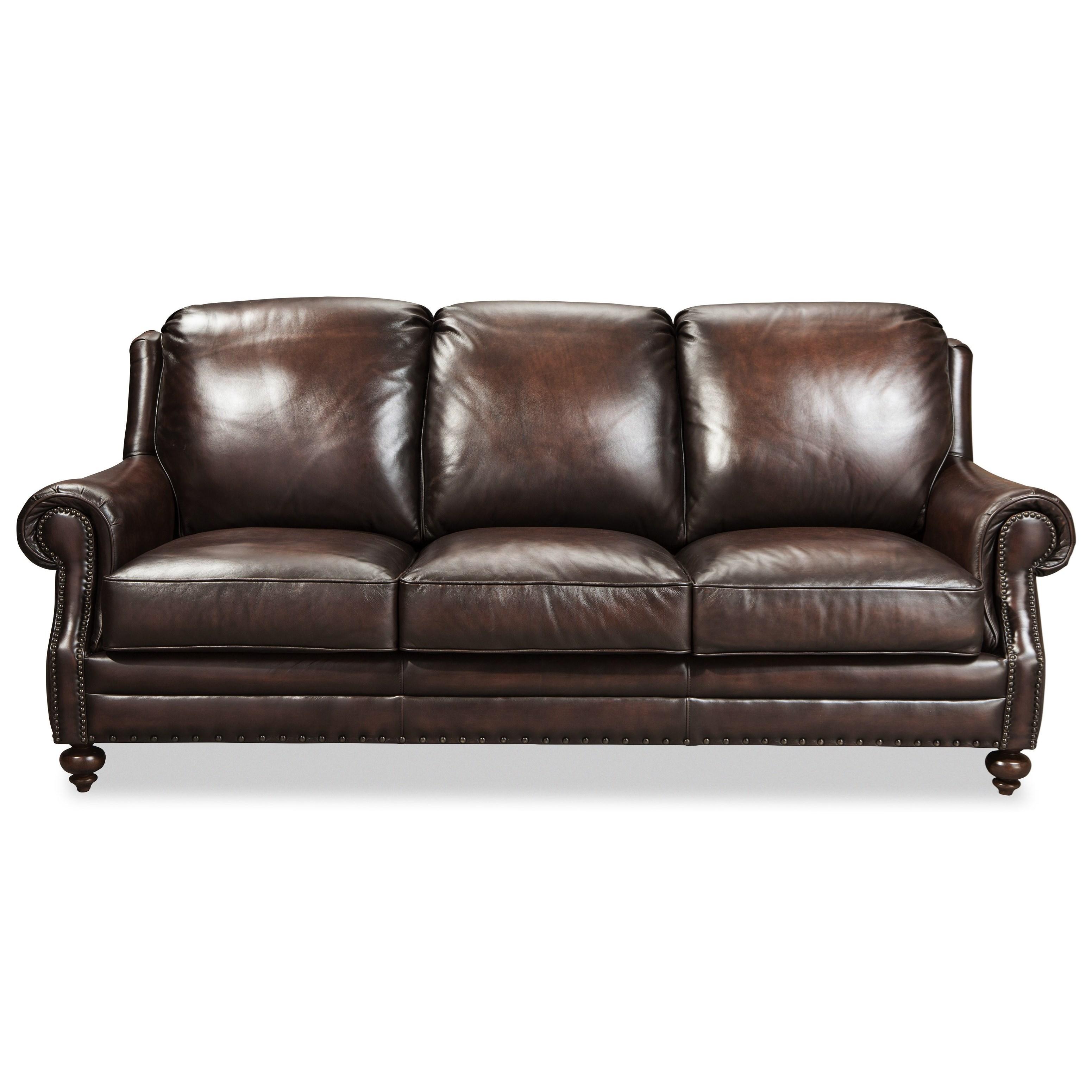 Craftmaster L171250 Craftmaster Traditonal Leather Sofa