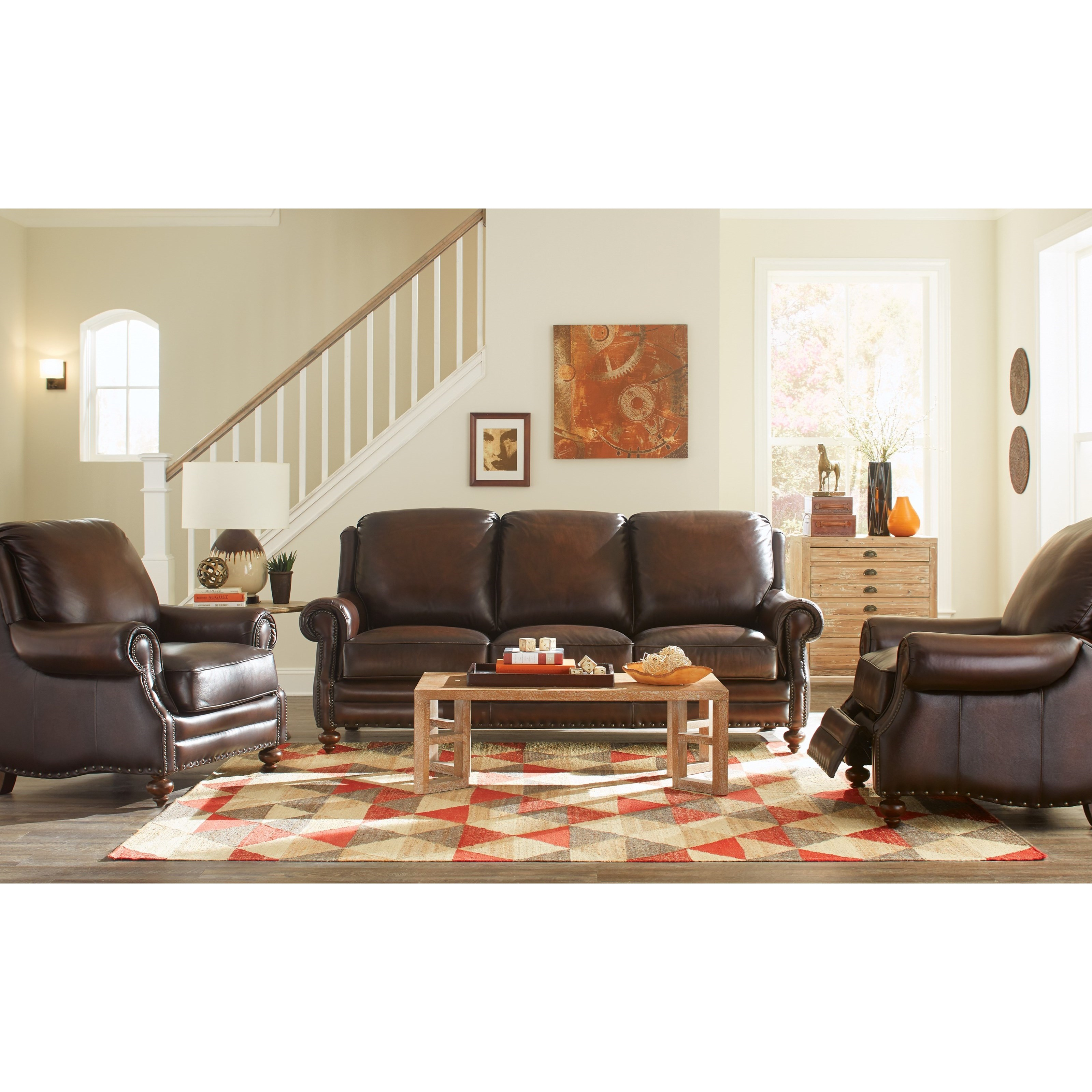 L171250 Craftmaster Leather Living Room Group by Craftmaster at Zak\'s Home