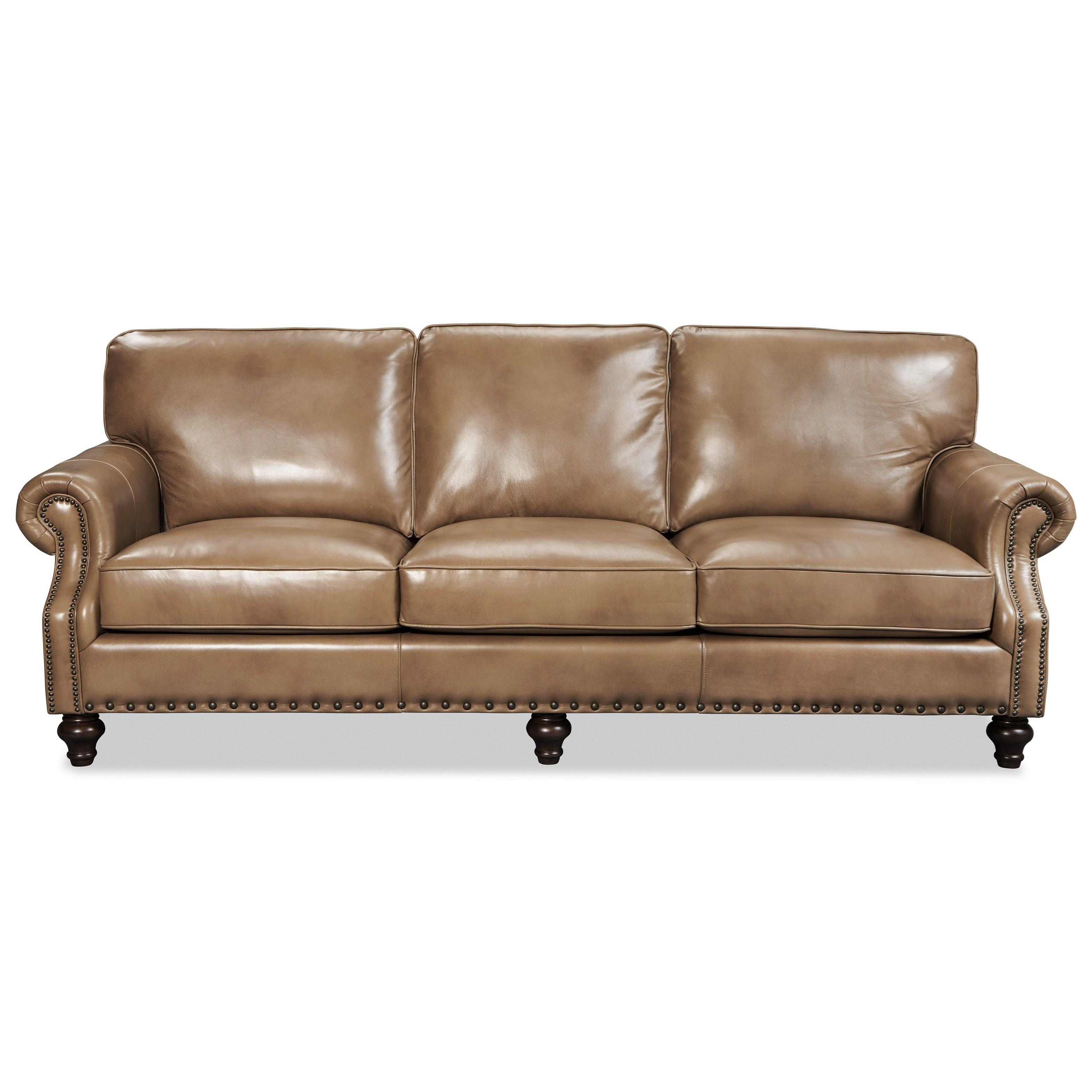 Craftmaster Eden 10 Craftmaster Traditonal Leather Sofa Boulevard Home Furnishings Sofas