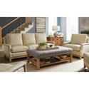 Craftmaster L172550 Transitional Nailhead-Studded Chair with Exposed Wood Base Rail
