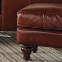 Craftmaster L180950 Traditional Rectangular Leather Ottoman
