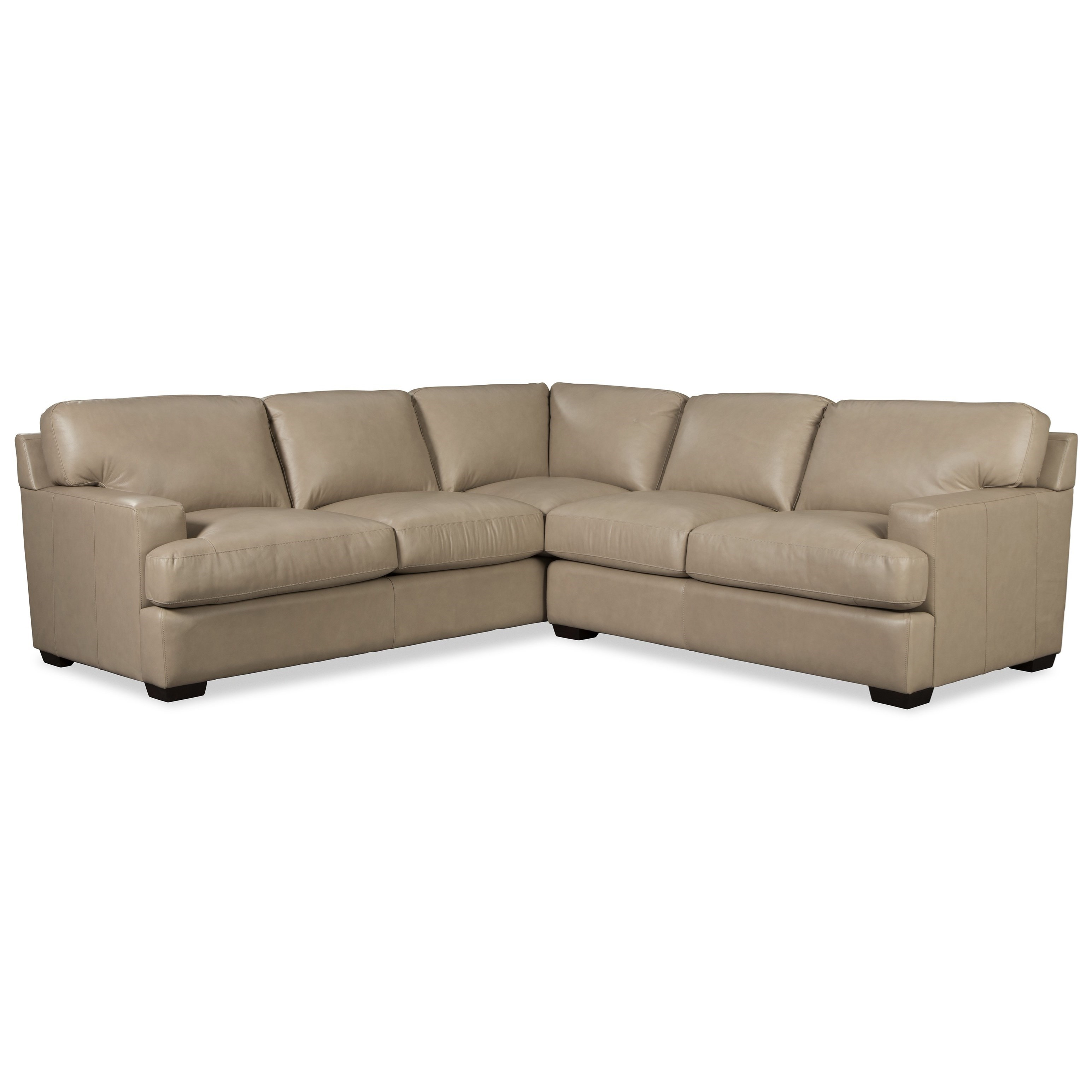 Sectional Sofas In Hickory Nc: Hickory Craft L187156 Two Piece Leather Sectional Sofa