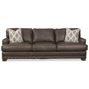 Sofa w/ Nailheads & Pillows