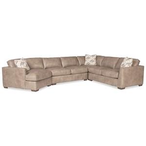 5-Seat Sectional Sofa w/LAF Cuddler & Pillow