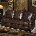 Craftmaster L785 Leather Sofa with Decorative Nailhead Trim - L78550