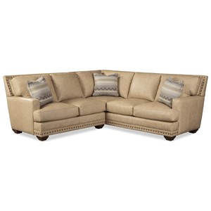 4-Seat Sectional Sofa w/ Pillows