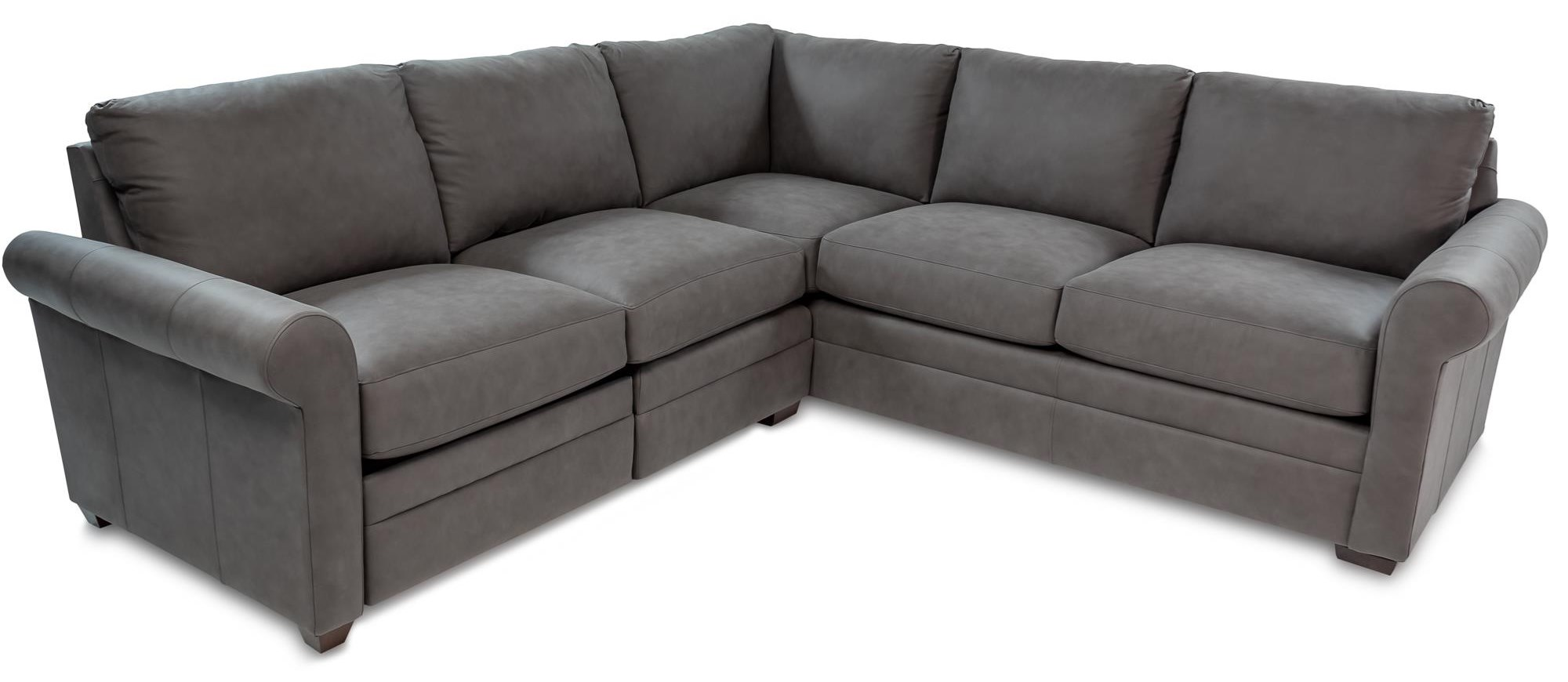 2PC Power Reclining Leather Sectional