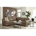Craftmaster L9 Custom - Design Options Customizable 2 Piece Leather Sectional Sofa with Track Arms