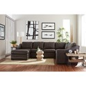Craftmaster L9 Custom - Design Options Customizable 3 Piece Leather Sectional Sofa with 1 Power Recliner and LAF Chaise Lounge