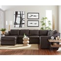 Hickorycraft L9 Custom - Design Options Custom 3 Pc Sectional Sofa w/ Power Recliner - Item Number: L943342+33+55P