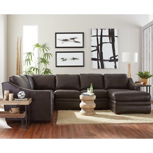 3 Pc Sectional Sofa w/ Power Recliner