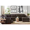 Craftmaster L9 Custom - Design Options Customizable 3 Piece Leather Sectional Sofa with 1 Power Recliner and RAF Chaise Lounge