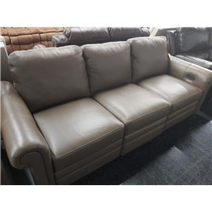 Last One! Leather Match Power Sofa!