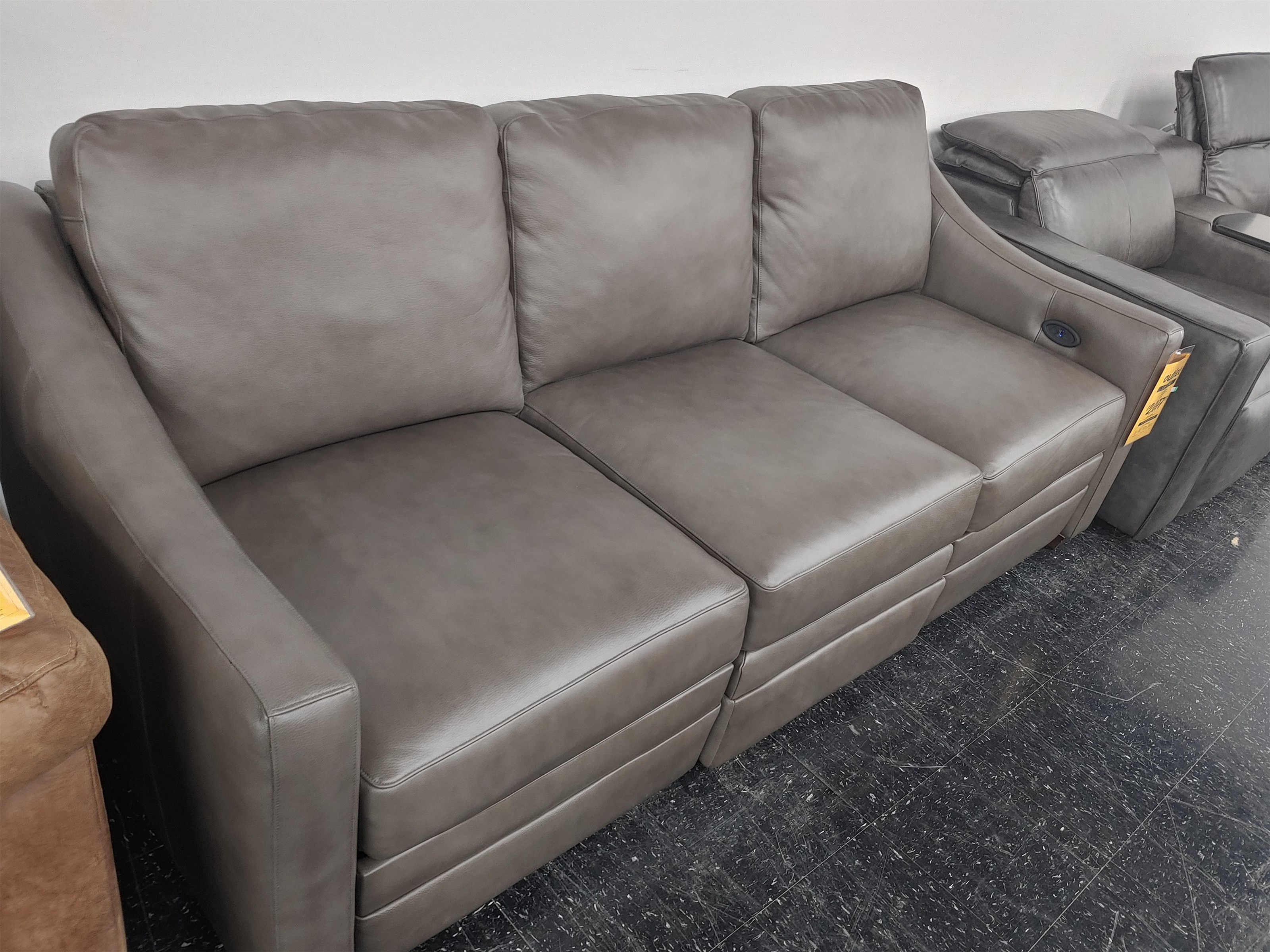 Last One Sofa Last One! Leather Match Power Sofa by Craftmaster at Morris Home
