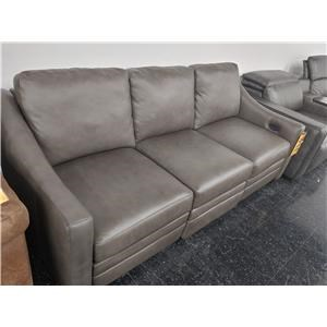 Last One! Leather Match Power Sofa
