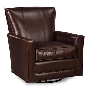 Craftmaster Leather Accents Glider Rocker