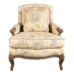 Morris Home Furnishings Lynee Lynee Wood Accent Chair