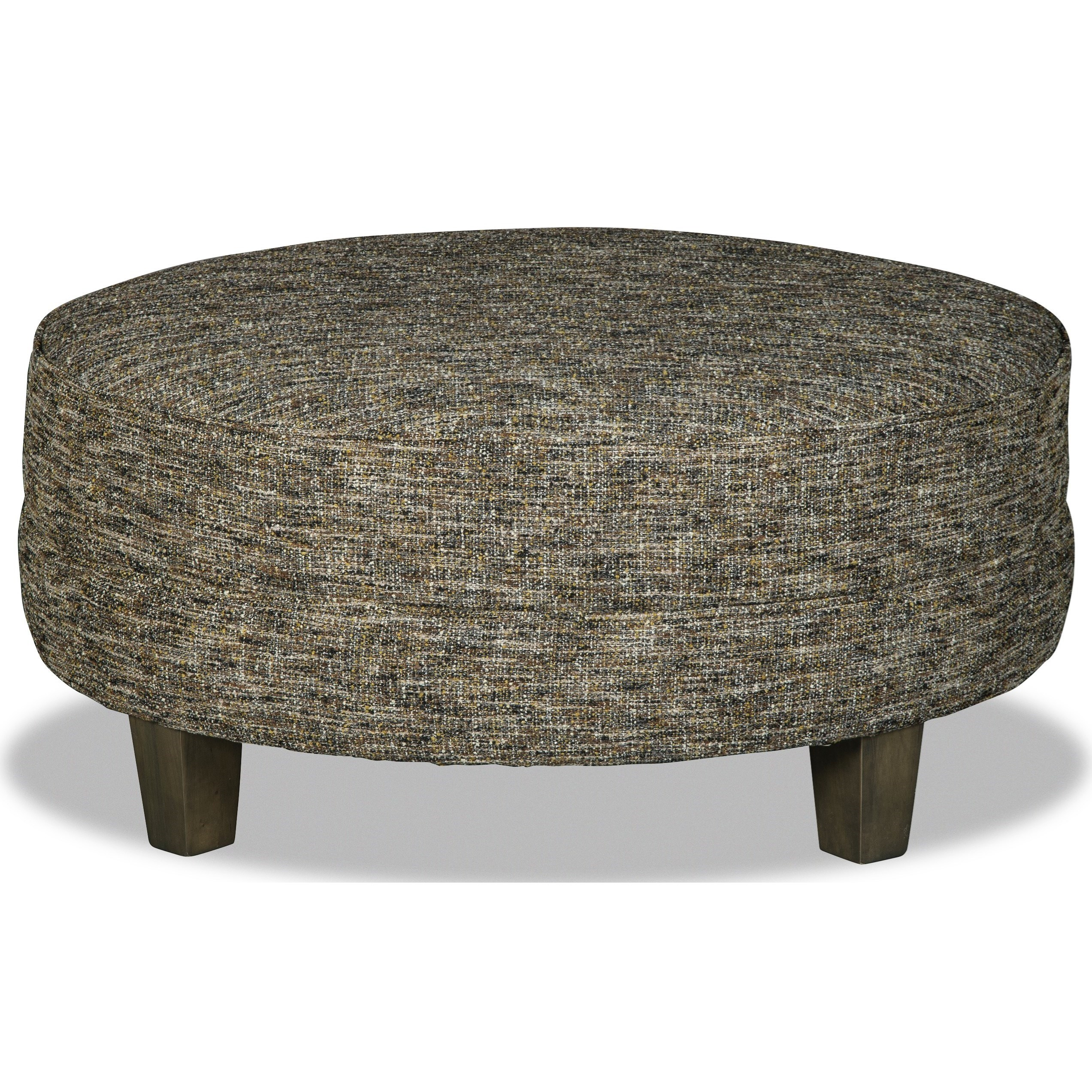 M9 Custom - Design Options Customizable Large Round Cocktail Ottoman by Hickorycraft at Johnny Janosik