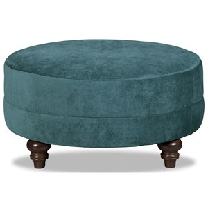 Customizable Small Round Cocktail Ottoman