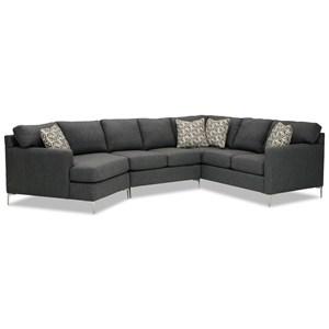 5-Seat Sectional Sofa w/ LAF Cuddler