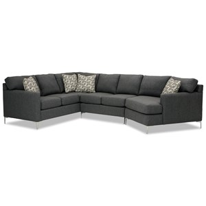 5-Seat Sectional Sofa w/ RAF Cuddler
