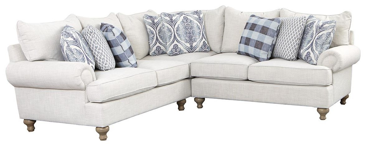 Craftmaster P711 2 Piece Sectional Darvin Furniture Sofas
