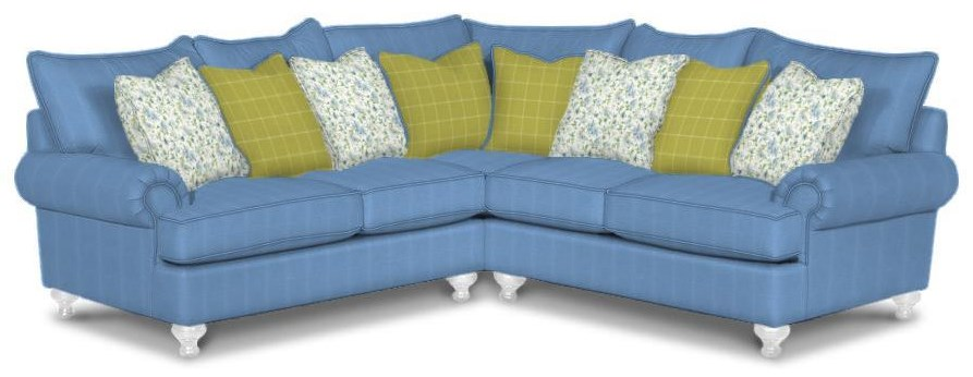Paula Dean 3 Piece Right Arm Facing SECTIONAL by Hickorycraft at Johnny Janosik