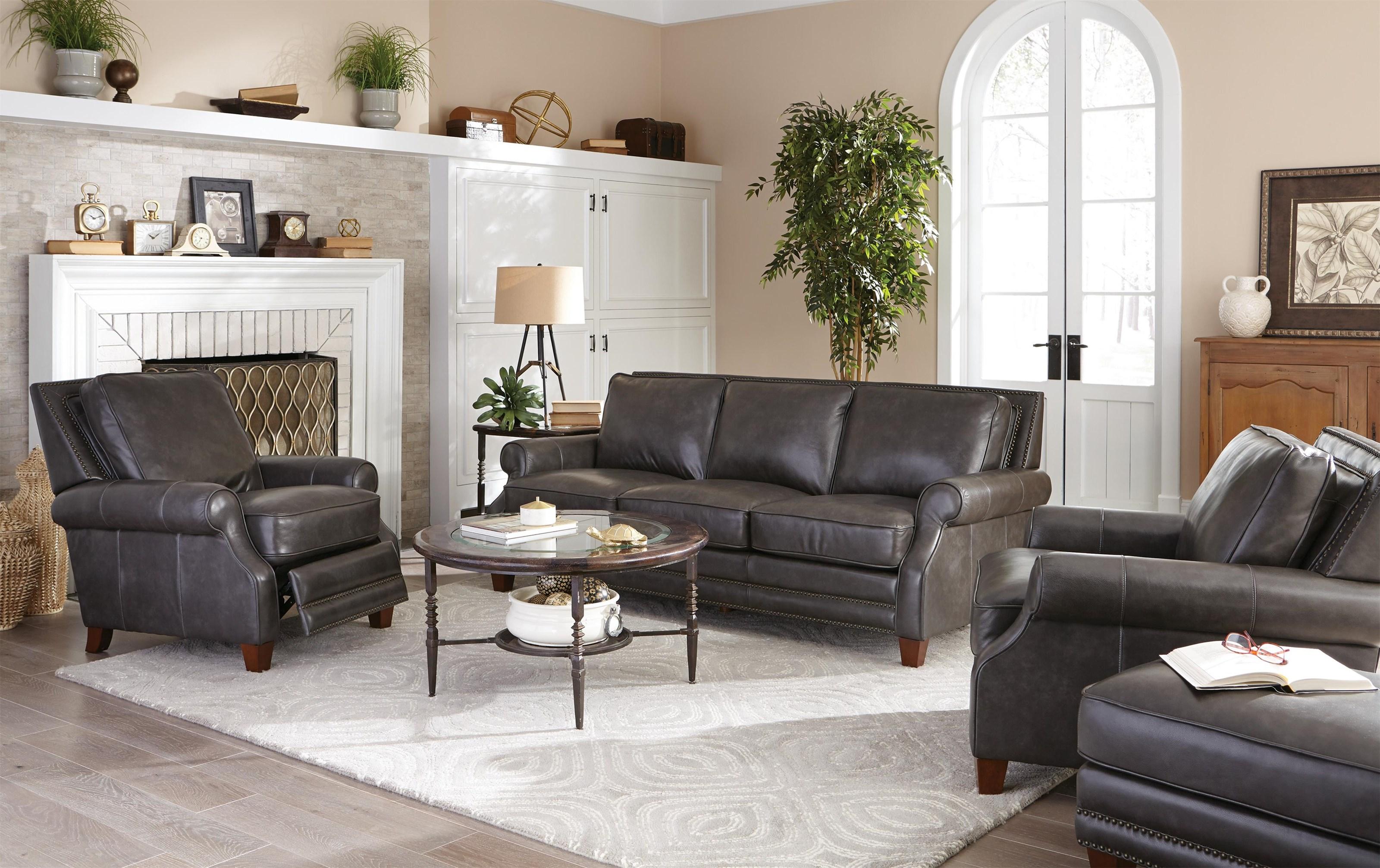 Craftmaster Prescott Leather Sofa Great American Home Store Sofas