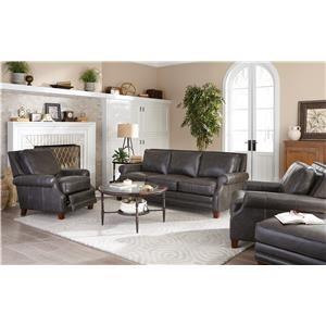 Craftmaster Prescott Leather Sofa