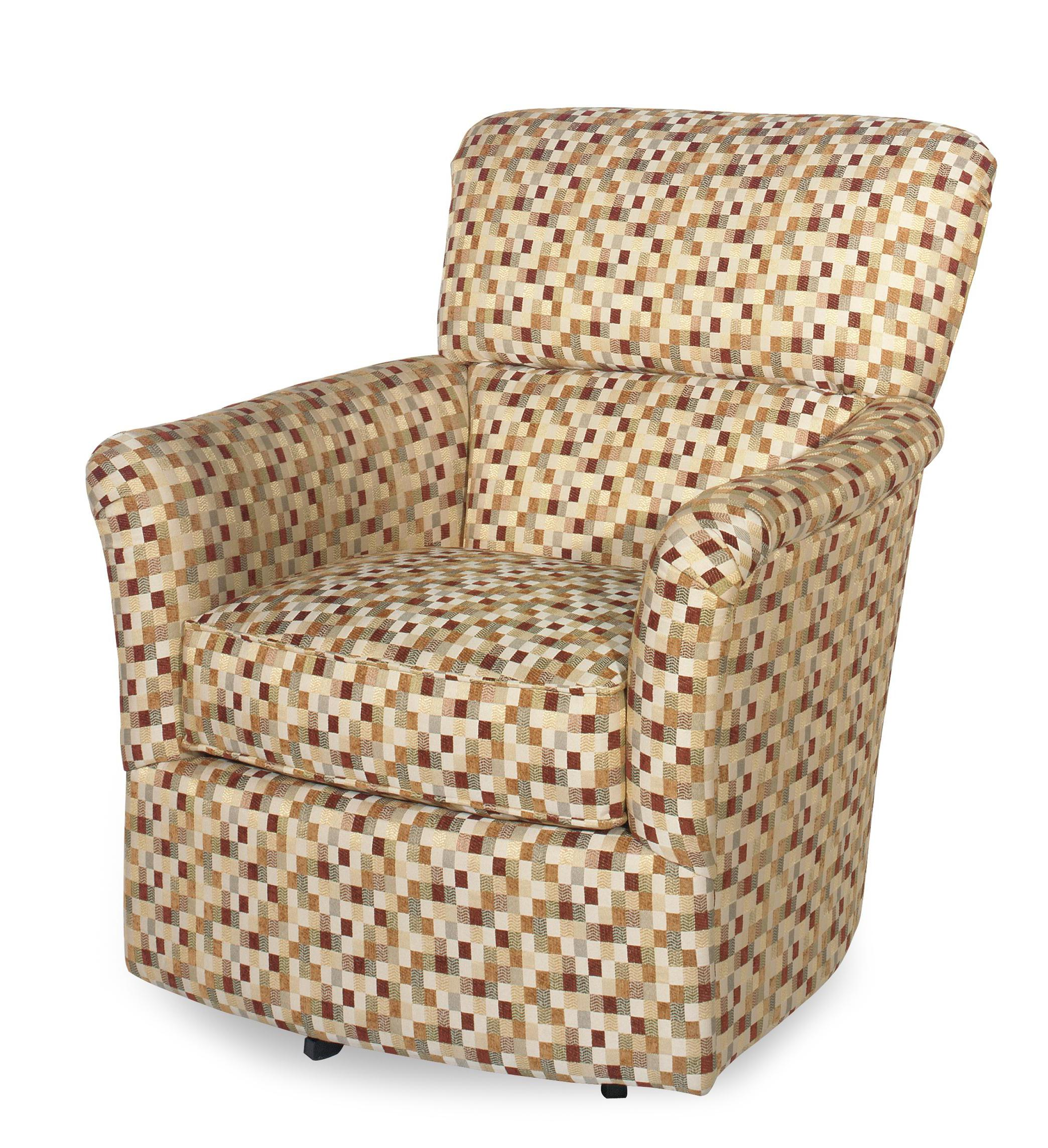 Craftmaster Swivel Chairs Contemporary Upholstered Swivel Chair With Flair  Arms   AHFA   Upholstered Chair Dealer Locator