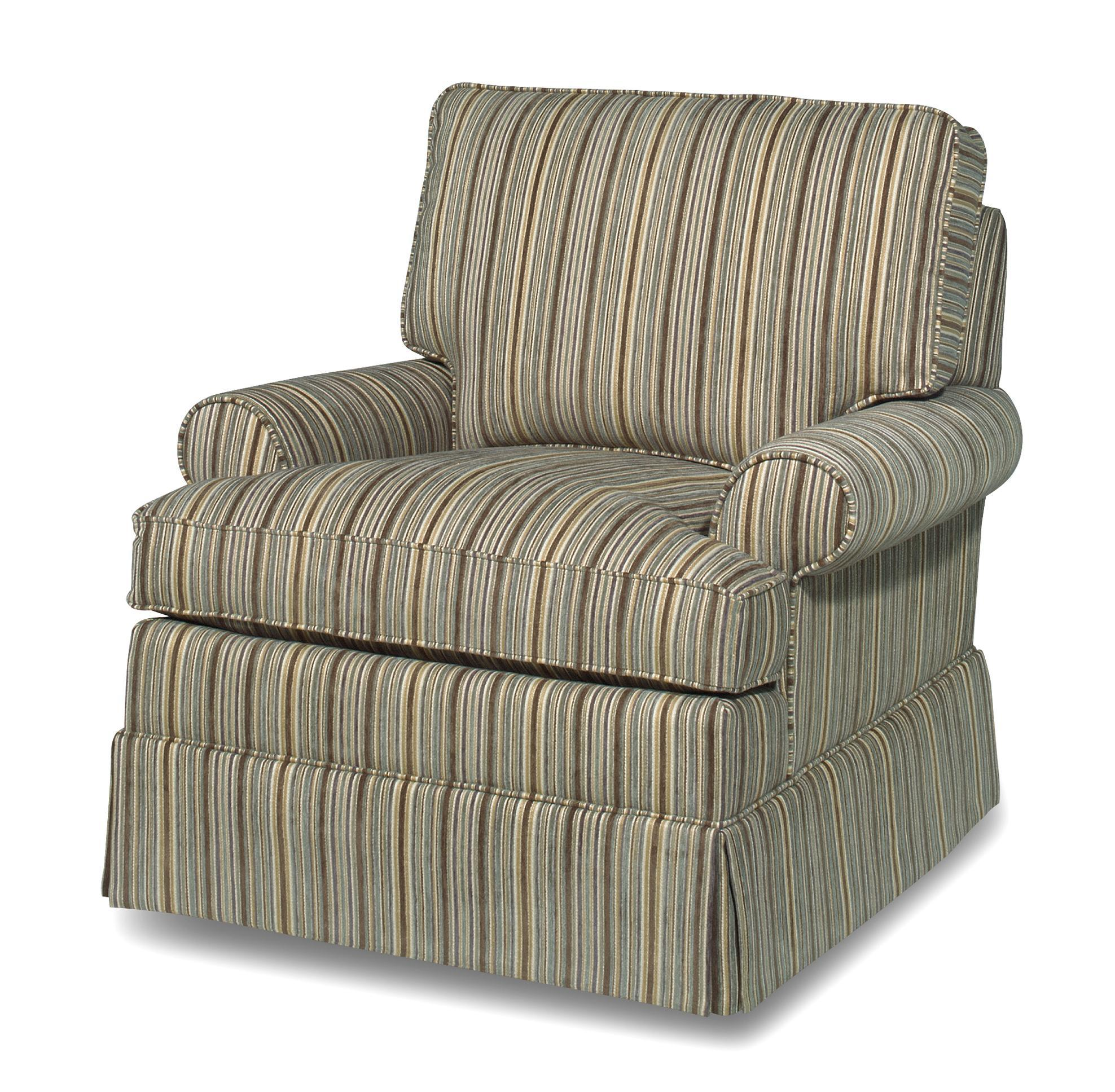 Swivel Chairs Cottage Style Swivel Chair With Skirted Base
