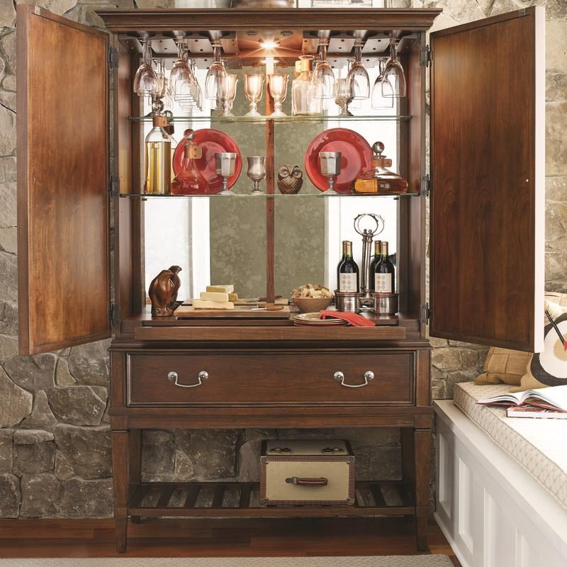 Morris Home Furnishings Upstate - Upstate Bar Cabinet - Item Number: 246531184