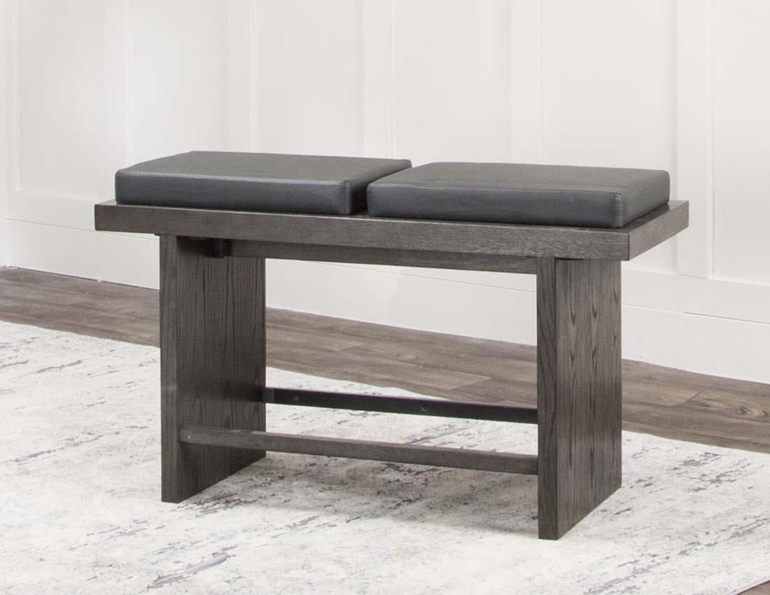 Cramco, Inc 25078 Pub bench / Charcoal - Item Number: 25078charcoal