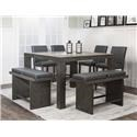 Cramco, Inc 25078 5 pc Pub Table Set - Item Number: 25078charcoal