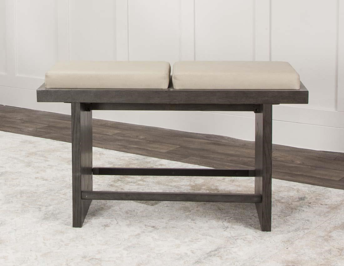 Cramco, Inc 25078 Taupe pub bench - Item Number: 25078taupe