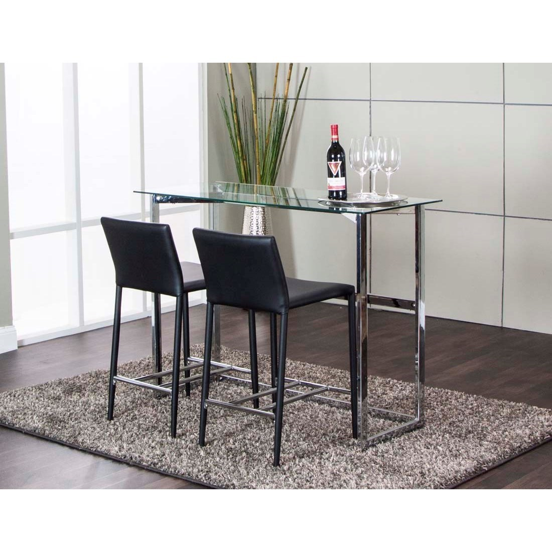 3-Piece Counter Height Table and Chair Set