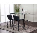 Cramco, Inc Abbott 3-Piece Counter Height Table and Chair Set - Item Number: K2003-329