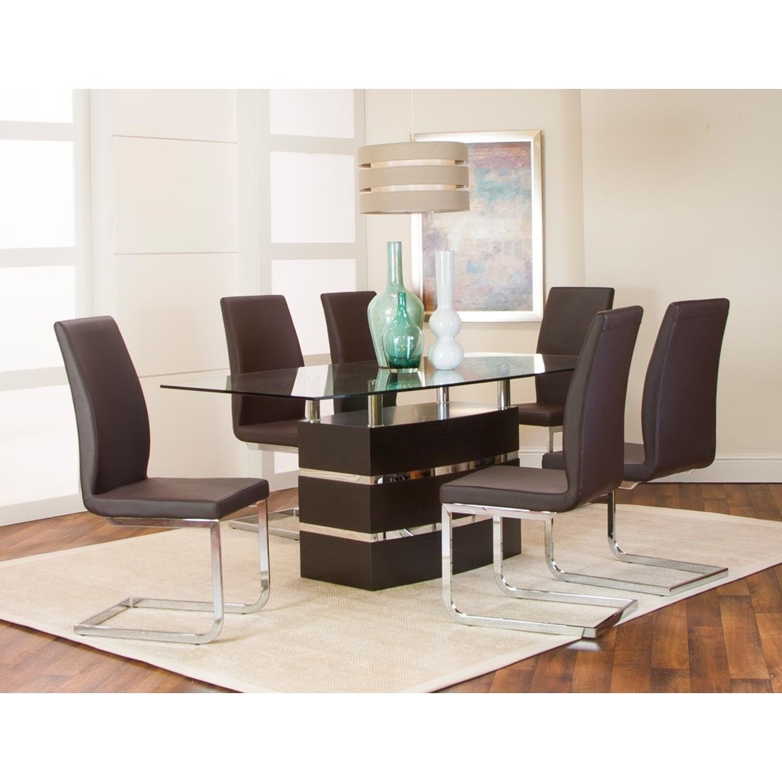 Altair 7-Piece Table and Chair Set by Cramco, Inc at Lapeer Furniture & Mattress Center