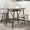 Cramco, Inc Ascot Pub Table and Barstool Set - Item Number: W3017-69+2x30