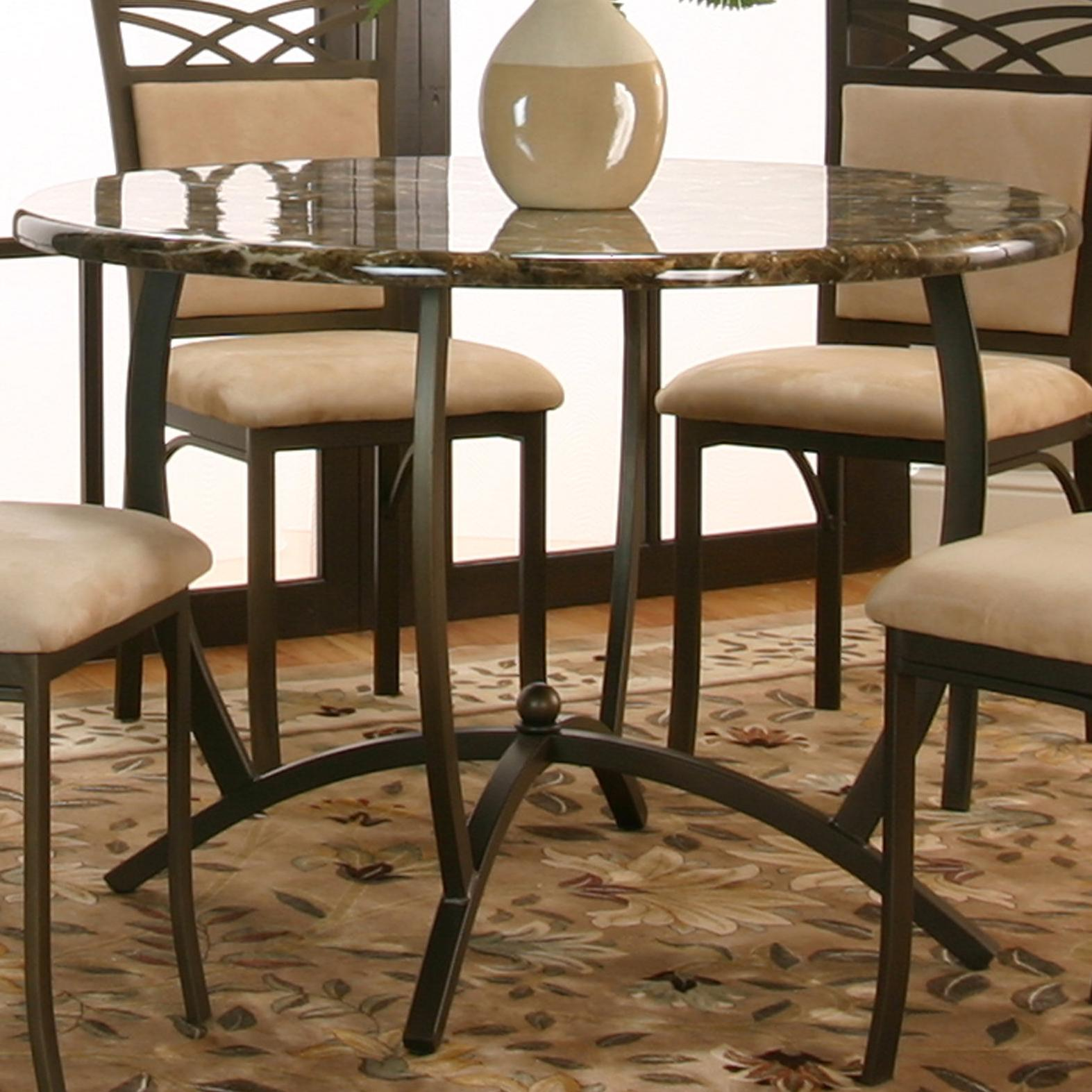 Round Dinette Tables: Cramco, Inc Atlas Round Dinner Table W/ Faux Marble Top