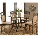 Cramco, Inc Atlas  Round Dinner Table w/ Faux Marble Top - Shown with Side Chairs