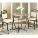Cramco, Inc Atlas Counter Height Table w/ Faux Marble Top - Shown with Pub Table and Stool