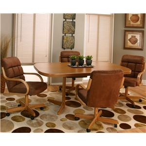 Cramco, Inc Cramco Motion - Atwood Sunset Oak Table and Chair Set