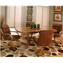 Cramco, Inc Cramco Motion - Atwood Sunset Oak Table and Chair Set - Item Number: D8030-71+74+4x02+4x08
