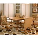Cramco, Inc Cramco Motion - Atwood Rectangular Casual Dinner Table - Rustic Oak Table Shown with Chairs