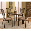 Cramco, Inc Cramco Dinettes - Bellevue Dining Side Chair with Upholstered Seat - Shown with Table