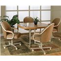Cramco, Inc Blair Tilt-Swivel Chenille Chair - Shown with Table