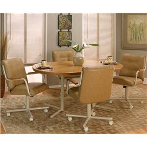 Cramco, Inc Cramco Motion - Carter  Laminate Table and Swivel Chair Set
