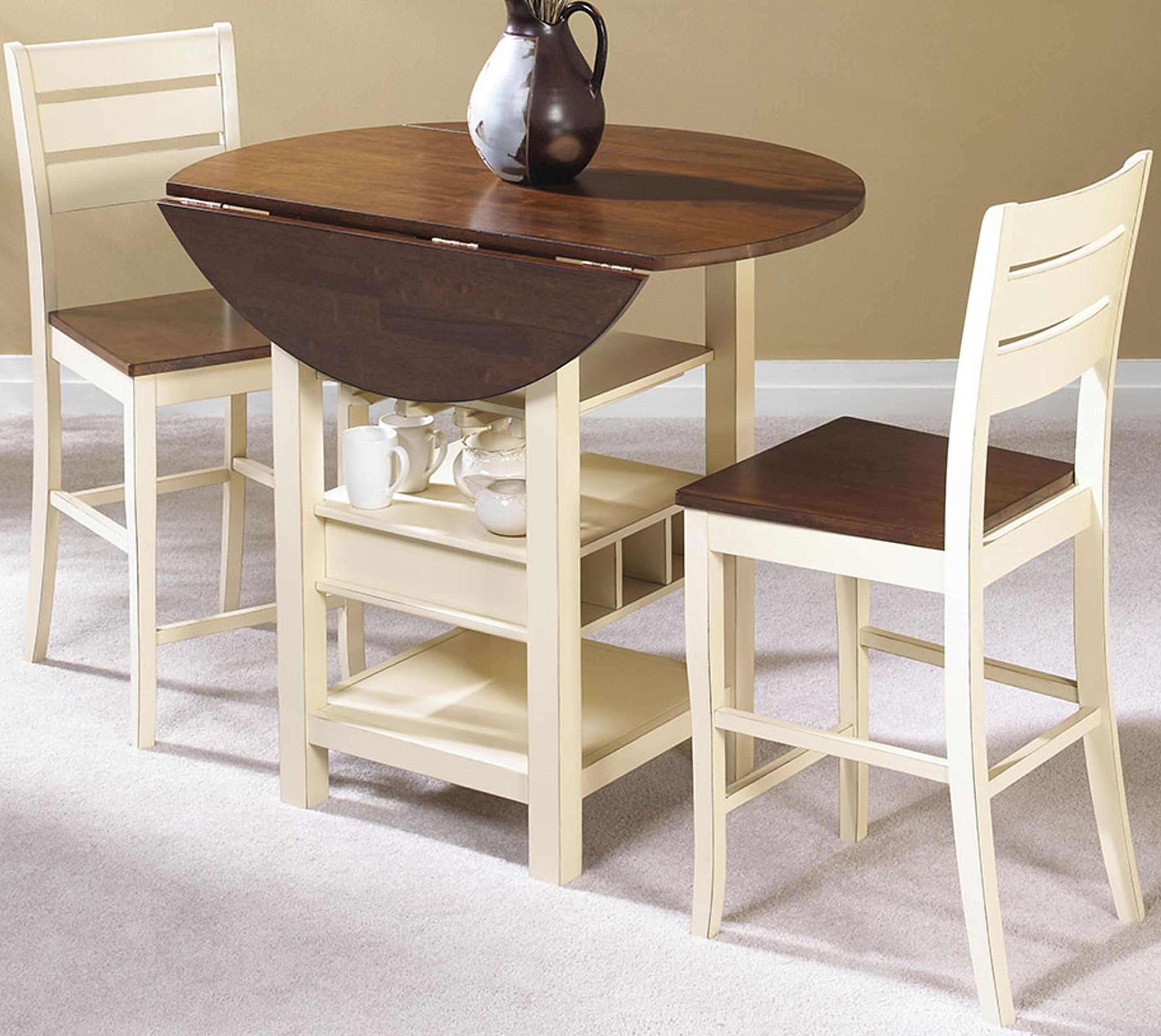 Cramco inc cascade 3 piece pub set darvin furniture for Breakfast table set with stools