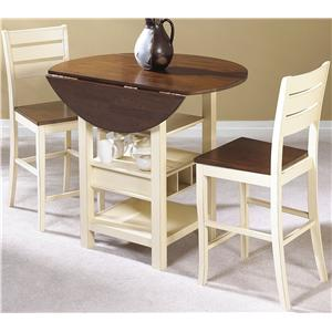 Cramco Inc Cascade 3 Piece Counter Height Set